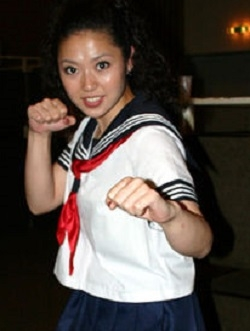 Sugiura Asami in The Machine Girl Japanese Movie (2008)