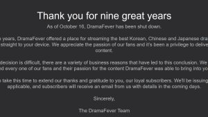 DramaFever Shuts Down After 9 Years!