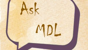 Ask MDL And Now For Something Different: Food